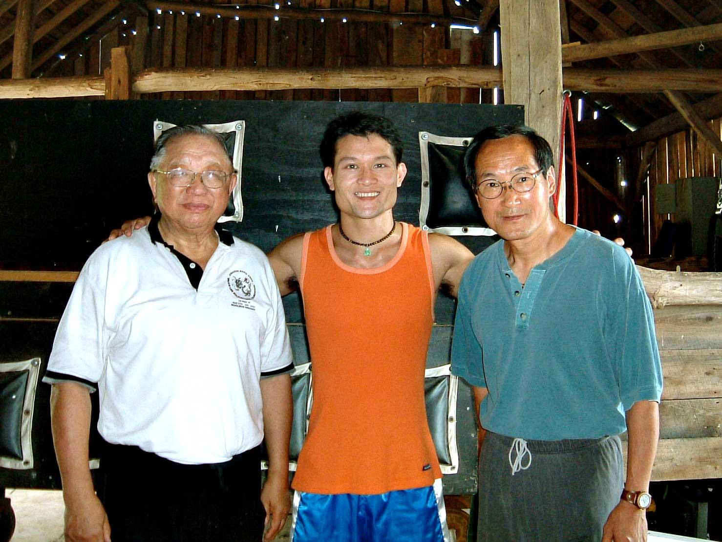 Tylus Quan Do junto a alumnos originales de Bruce Lee: Sifu Ted Wong ySifuDaniel Lee